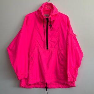 SOLD! Vintage Neon Pink Windbreaker (A56)
